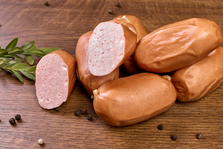 ORGANIC SMALL SAUSAGES WITH CHEESE, HIGHEST GRADE