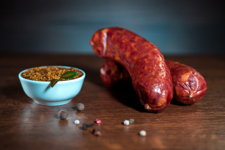 ORGANIC SAUSAGES STRONG-SMOKED, HIGHEST GRADE